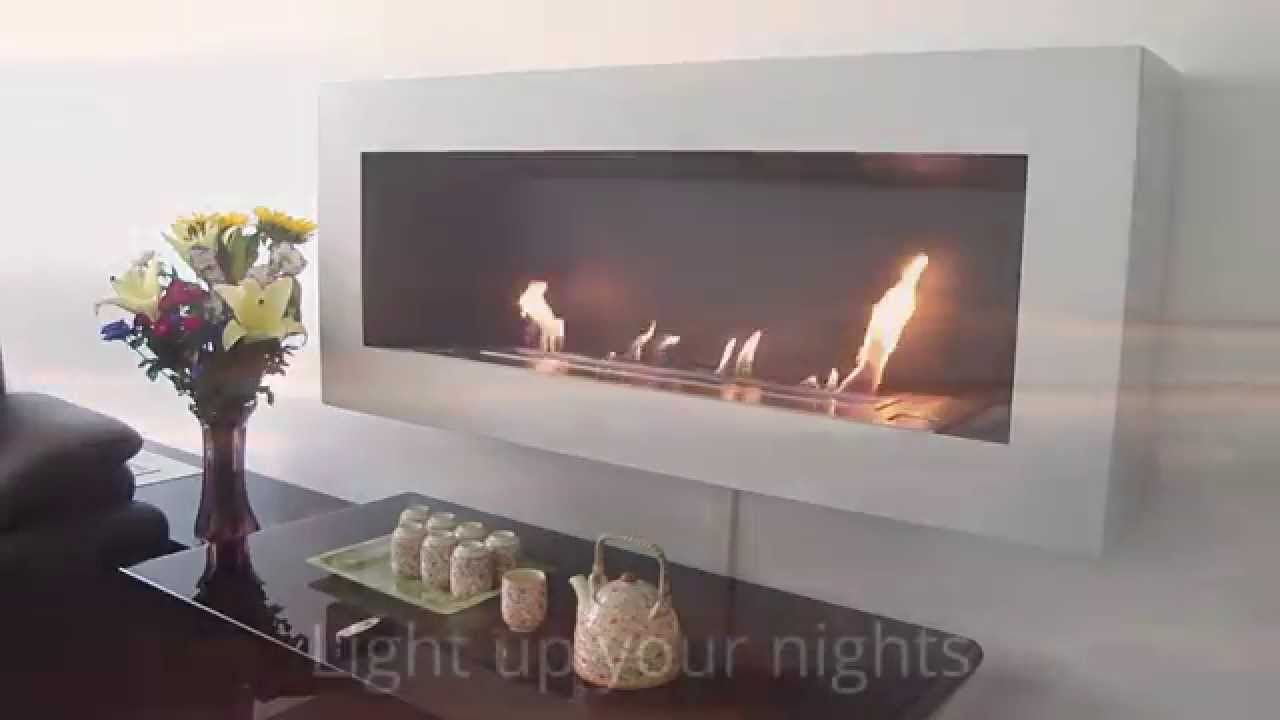 bio ethanol fireplaces afire the magical of a remote controlled