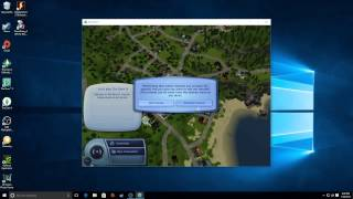 The Sims games running on Windows 10