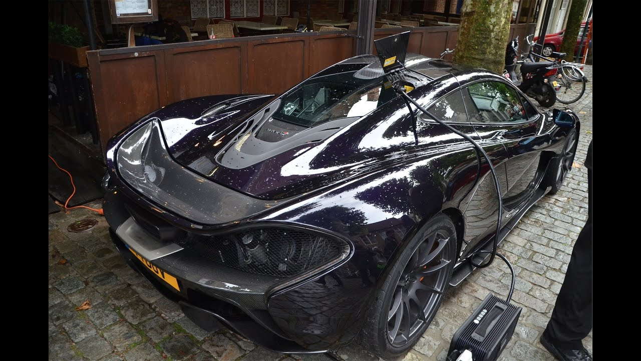McLaren P1 in Bruges Top Gear Filming epic sound!!!