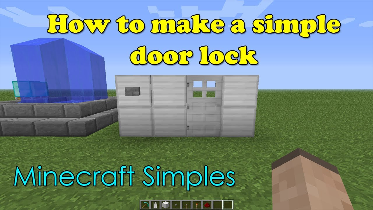 Minecraft Simples Redstone Door Lock Youtube