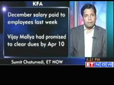 Kingfisher Airlines - Pilots Get Their Salaries