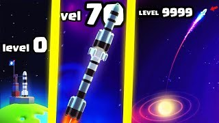 HOW HIGH IS THE FASTEST HIGHEST LEVEL ROCKET EVOLUTION? (9999+ BLACK HOLE GALAXY) l Space Frontier 2