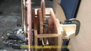 Homemade Wood Gear Clock.wmv