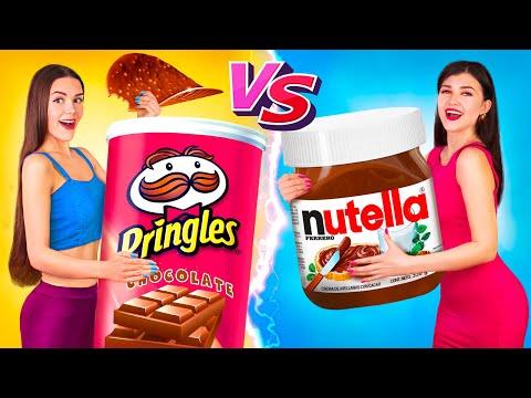 Челлендж «Настоящие предметы против шоколадных»