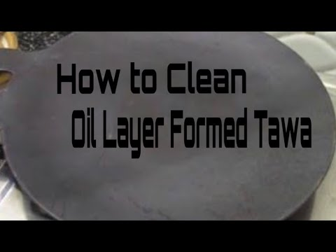 How to Clean Oil Grease from Non Stick Pan/Tawa | How to Clean Non Stick Tawa