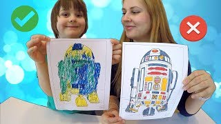 3 Markers Challenge with Star Wars, Lighting Mcqueen | LOL Surprise & Smurfs for Winner