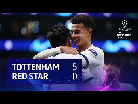 Tottenham vs Red Star Belgrade (5-0)   UEFA Champions League Highlights
