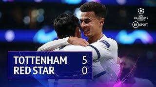Tottenham vs Red Star Belgrade (5-0) | UEFA Champions League Highlights