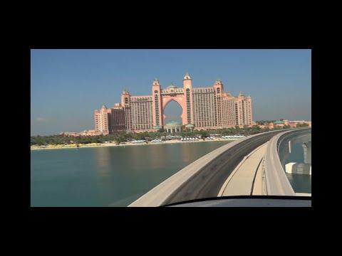 UNITED ARAB EMIRATES DUBAI PALM JUMEIRAH MONORAIL RIDE NOVEMBER 2019 (ATLANTIS AND THE PALM VIEWS)