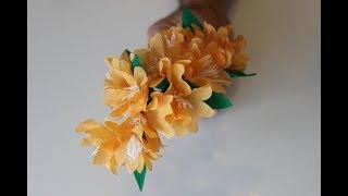 DIY Selbst gemachte Frühlingsblüte aus Krepp-papier /Spring Blossom from crepe Paper