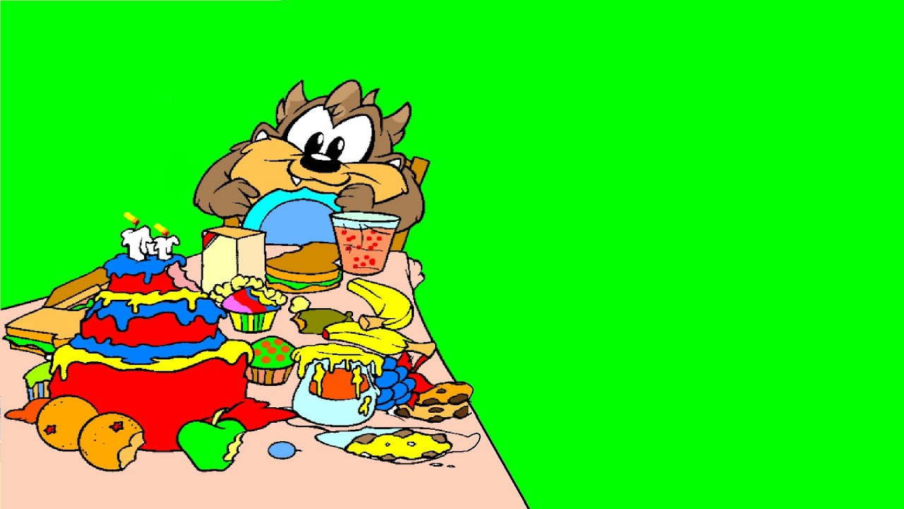 Baby Taz Eating Birthday Cake - Baby Looney Tunes Coloring Pages ...