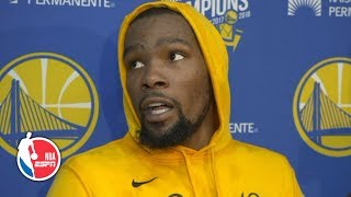 'I'm Kevin Durant. Y'all know who I am' - KD on Patrick Beverley matchup l 2019 NBA Playoffs
