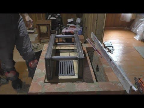 Возводим кухонную кирпичную печь-плиту с котлом...