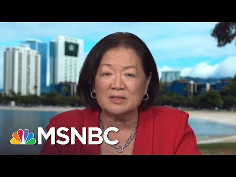 Mazie Hirono: Calls For Sen. Al Franken's Resignation A 'Distraction'   MTP Daily   MSNBC
