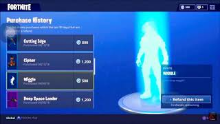 Fortnite New feature | Refund items Get Your Vbucks back !!
