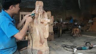 Tài lộc ♥️ điêukhắc tượng thầnlộc gỗ longlão dãhương ,  sử dụng để mở cung tài lộc