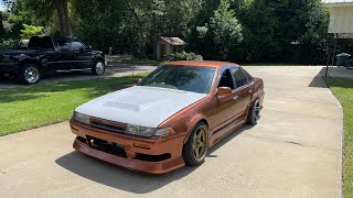 homepage tile video photo for K24 swapped Nissan first pulls with the boost turned up and forgotten fab projects