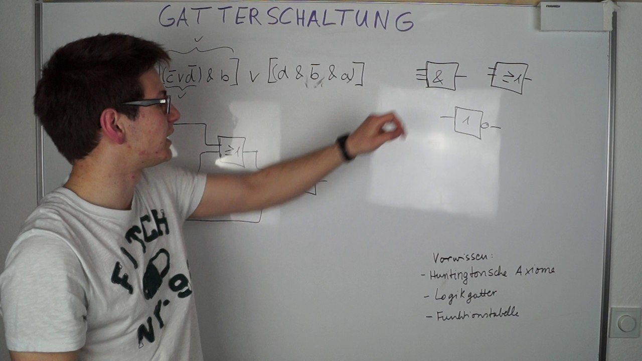GATTERSCHALTUNG zeichnen / Logic gate | Digitaltechnik - YouTube