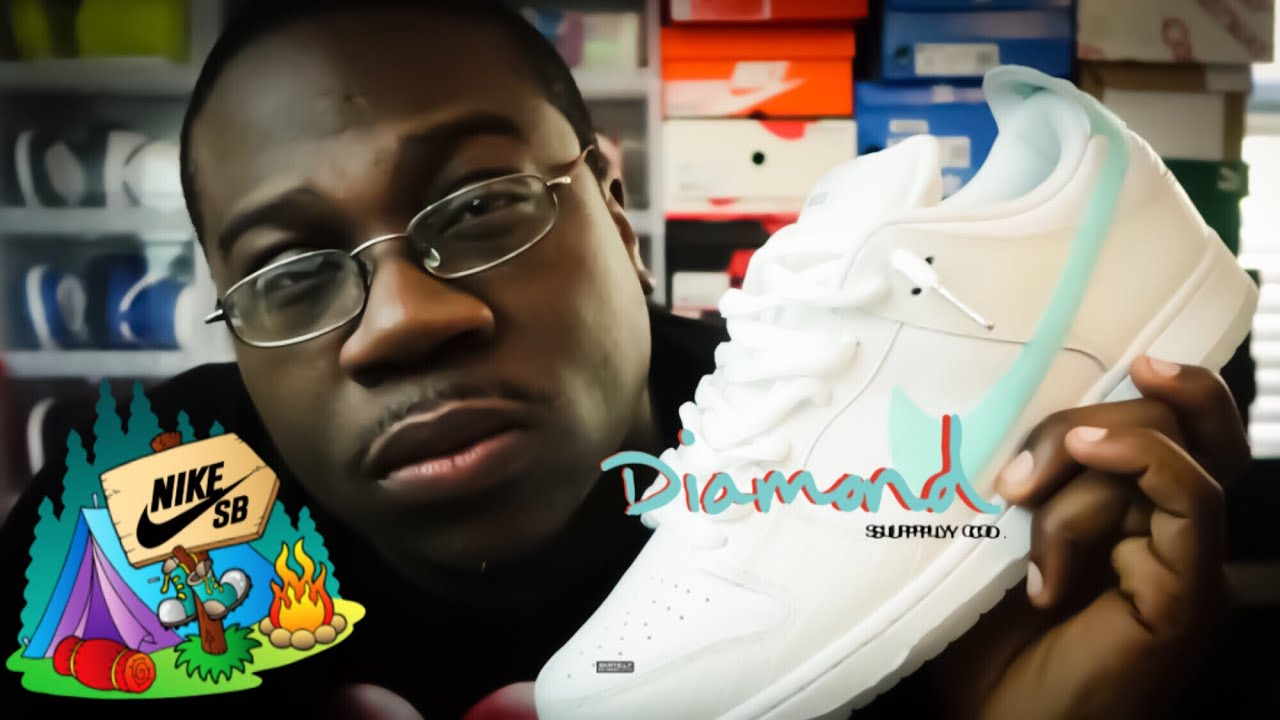 "Nike SB Dunk Low ""White Diamond"" Camp Out + Review + Epic On Foot ... 5cc16ebda"