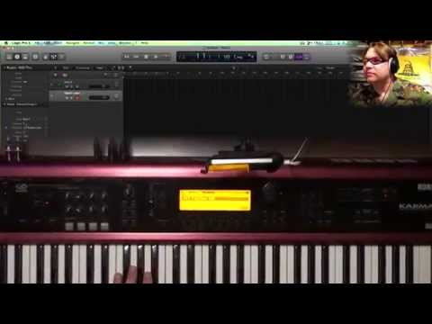 Setup & Control your External MIDI Keyboard in Logic Pro X - Korg Karma