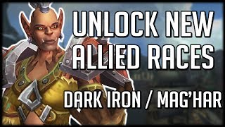 NEW ALLIED RACE UNLOCK REQUIREMENTS - Dark Iron Dwarf  Maghar Orc  WoW Battle for Azeroth
