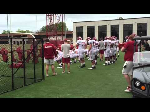 Sights and sounds from Alabama football practice