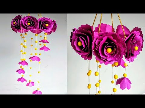 DIY Wind Chime with Beautiful Paper Roses|Wall Hanging|Paper Craft