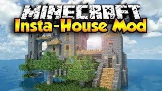 Minecraft Mods: Insta-House Mod - Instant Houses - Working Mob Trap 1.7.10 (Minecraft Mod Showcase)