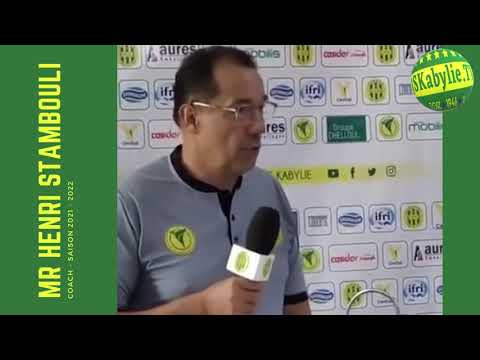 🎤 JSK  : Présentation du coach Henri STAMBOULI saison 2021 - 2022