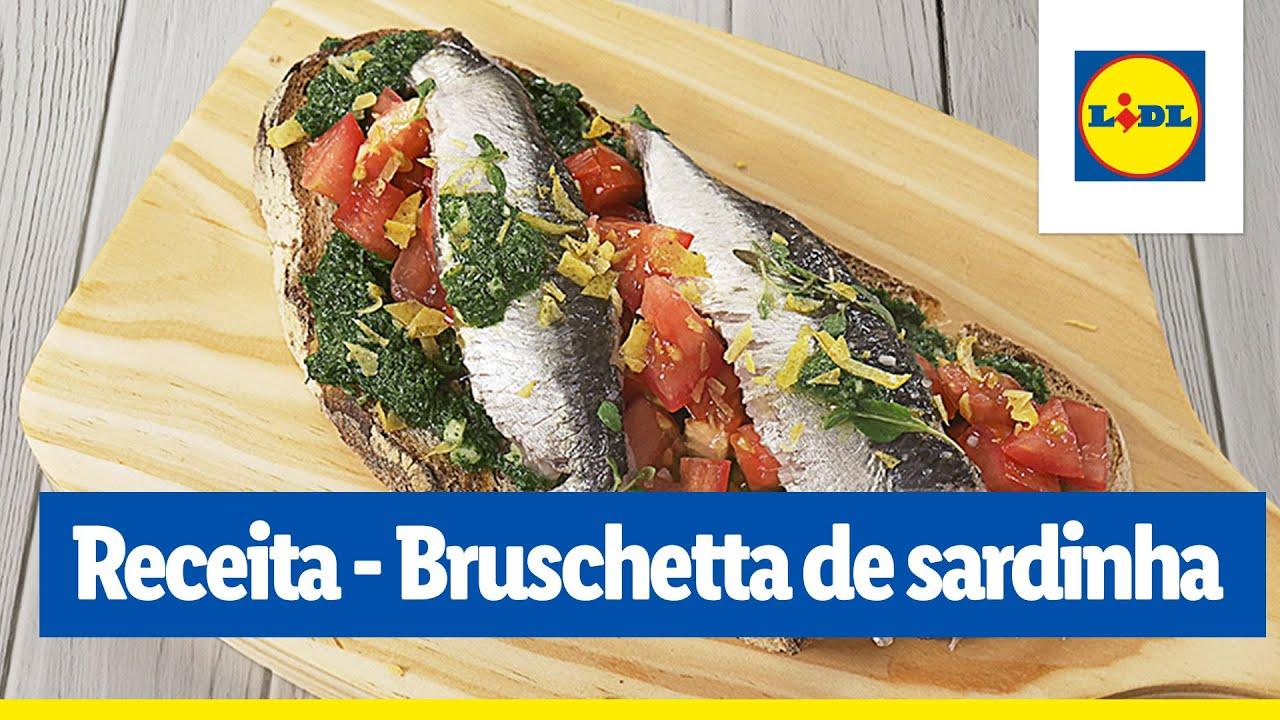 Bruschetta de sardinha com molho verde | Cooking Classes | Lidl Portugal