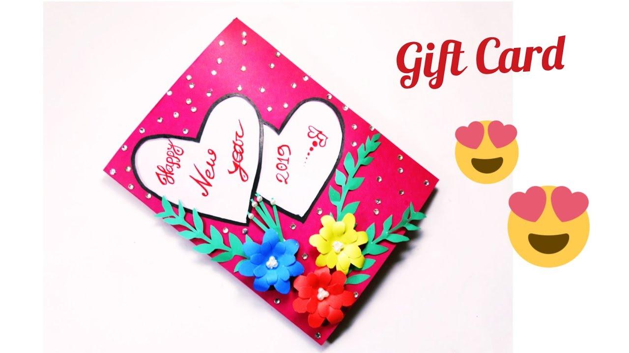 beautiful handmade happy new year 2019 card idea  diy
