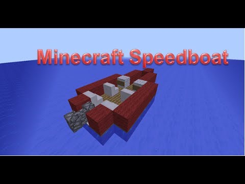 Minecraft Speed Boat Tutorial - YouTube