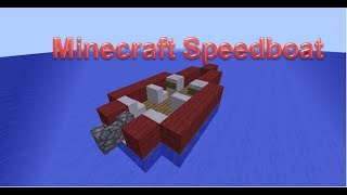 Minecraft Speed Boat Tutorial