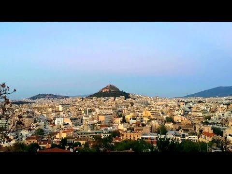 Athens skyline timelapse