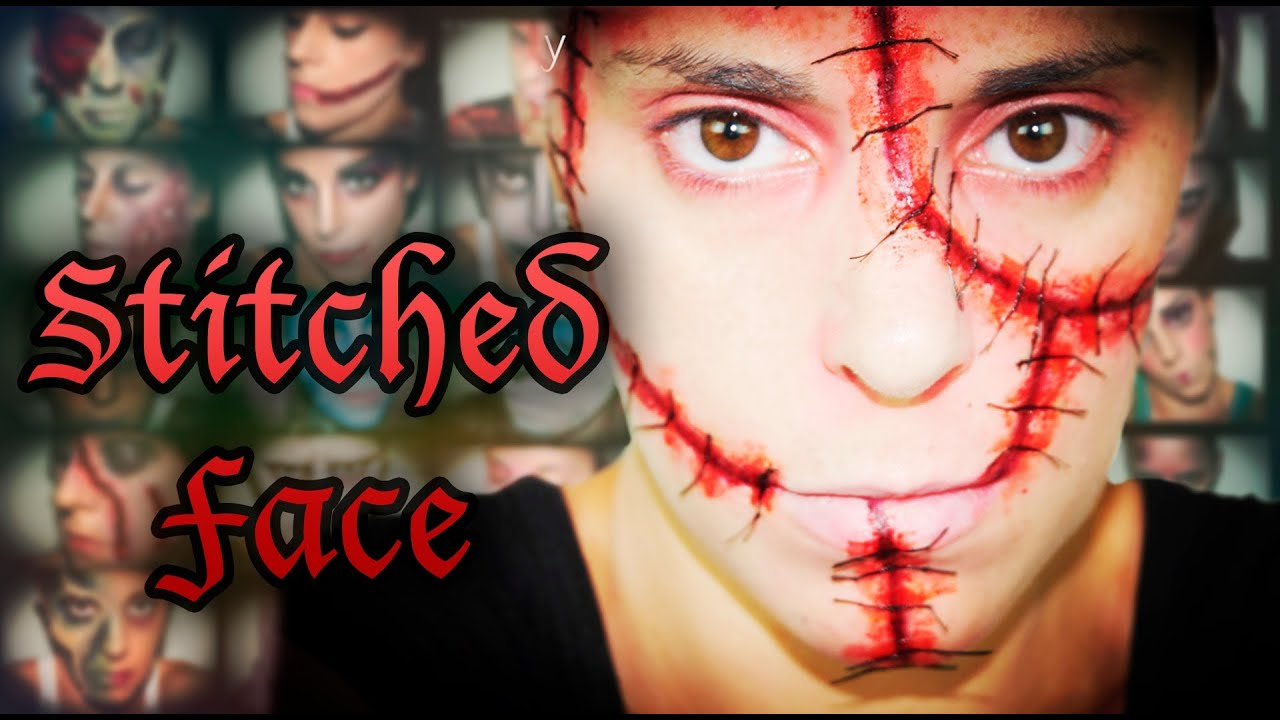 Halloween FX Makeup Stitched face | Silvia Quiros - YouTube