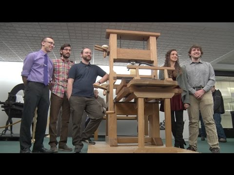 RIT Students Engineer Historical Printing Press
