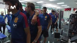 Primer Paseo de la Selección Española por las Instalaciones de Krasnodar