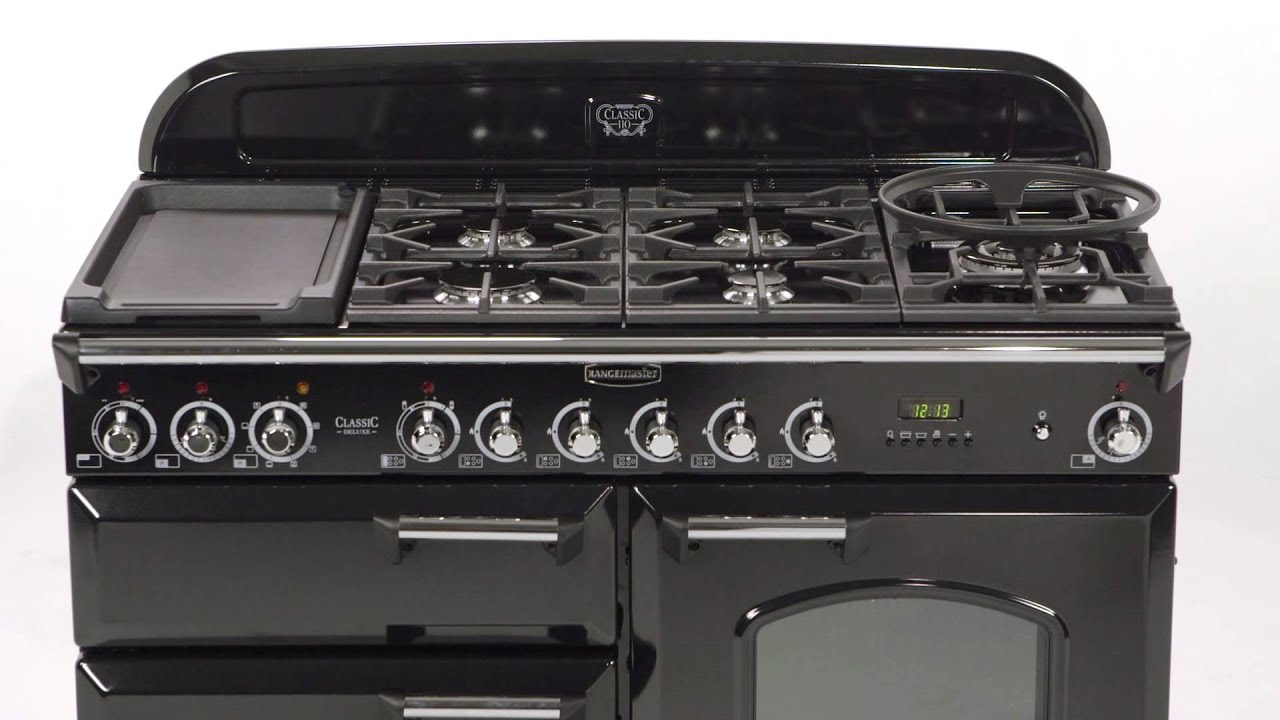 rangemaster classic deluxe 110 dual fuel range cooker. Black Bedroom Furniture Sets. Home Design Ideas