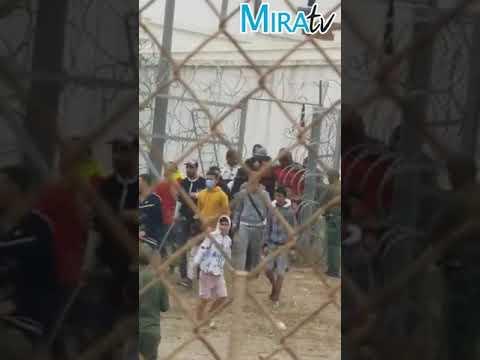 Militares de Marruecos abren puertas en la frontera con España deliberadamente