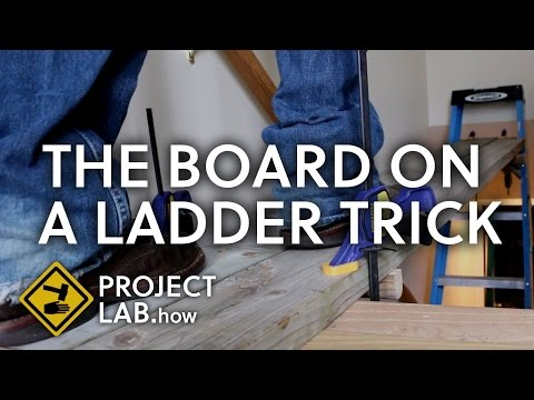 The board on a ladder trick: Is it safe?