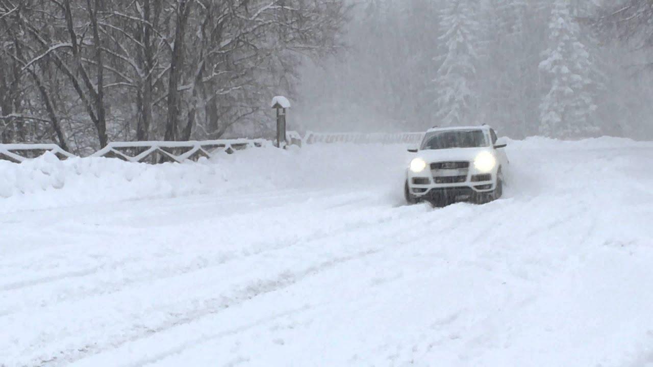 Audi Q7 3.0 TDI Funny & Snow in 4k - Sulla Neve - YouTube