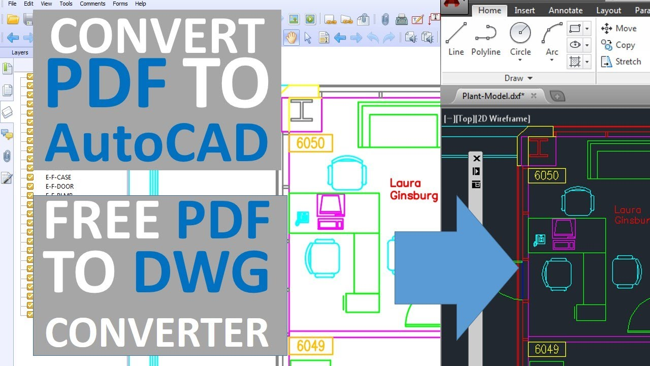 Photo To Line Art Converter Free Download : Convert pdf to autocad free dwg converter youtube