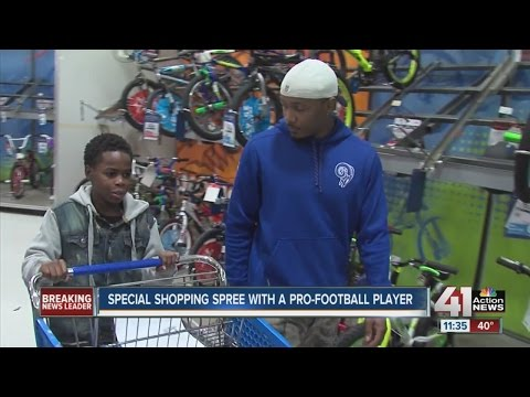 Special shopping spree with E.J. Gaines