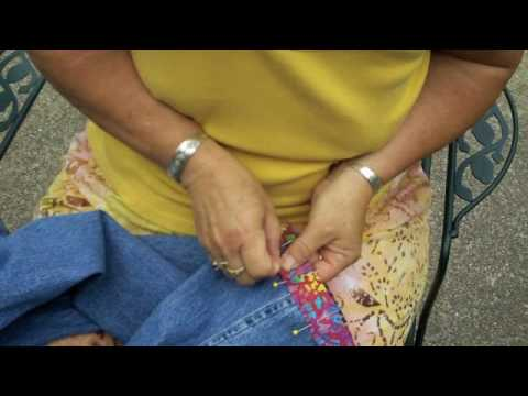 Sewing OOAK Capris from Jeans Pants
