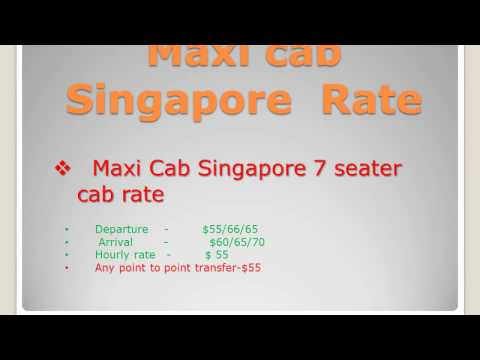 Maxi Taxi online booking in Singapore