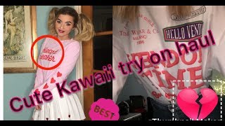 UNZZY STORE TRY ON HAUL! *KAWAII STYLE*  *IM TOO TALL FOR JAPAN*