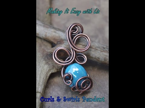 Curls & Swirls Wire Work Pendant - Experienced