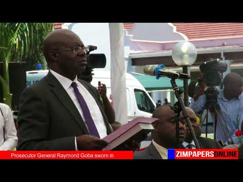 Prosecutor General Raymond Goba sworn in