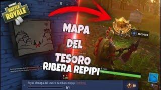LOCALIZACIÓN del MAPA del TESORO de RIBERA REPIPI - Desafio FORTNITE BATTLE ROYALE