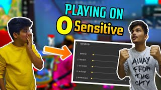 FREE FIRE 0 SENSITIVITY CHALLENGE || DUO VS SQUAD  DOUBLE AWM GAMEPLAY || LIVE REACTION